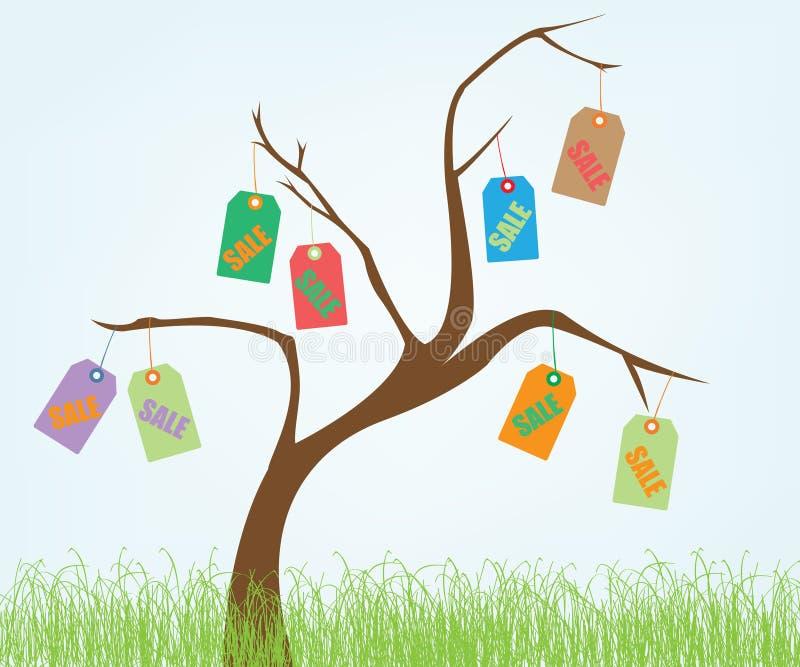 销售额结构树 库存例证