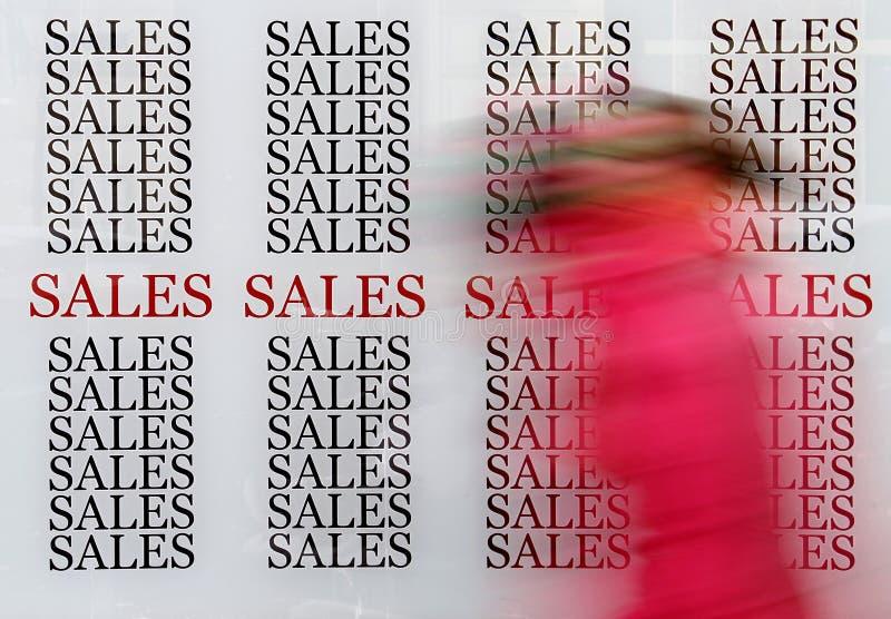 销售额购物 库存图片