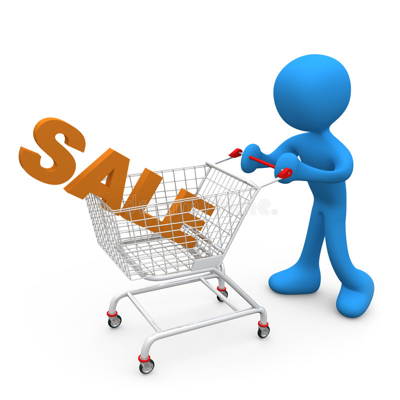 销售额购物 向量例证