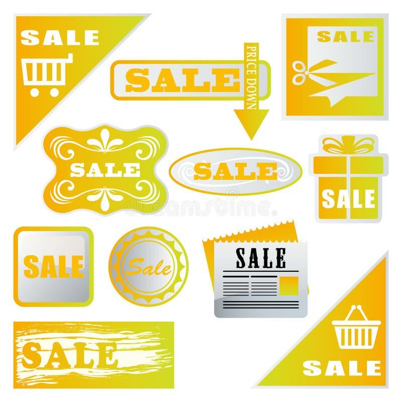 销售额集合标签 库存例证
