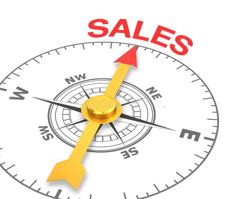 销售额 向量例证