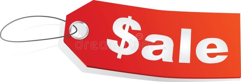 销售额tage 向量例证