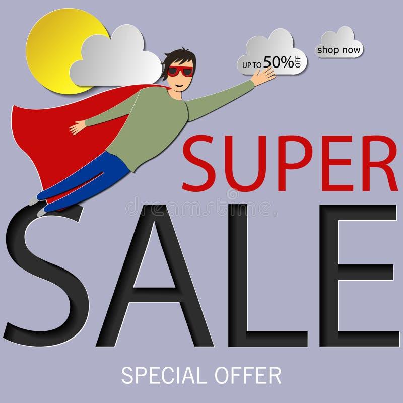 销售,百分之五十在红色的字法掠过了冲程 题字可以为传单,海报使用 向量例证