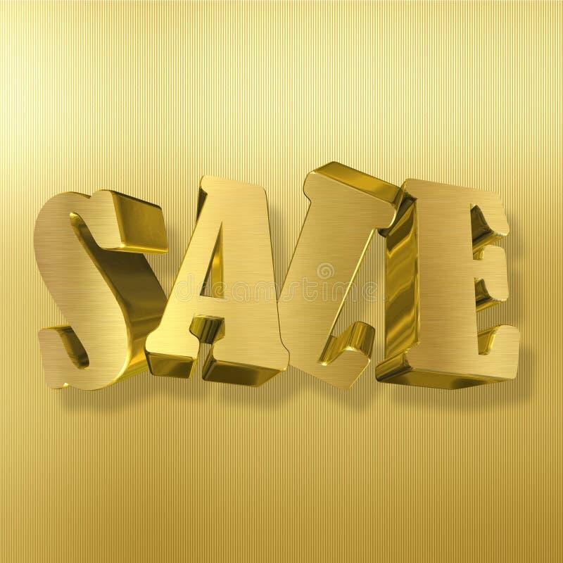 销售,金金属信件 库存例证
