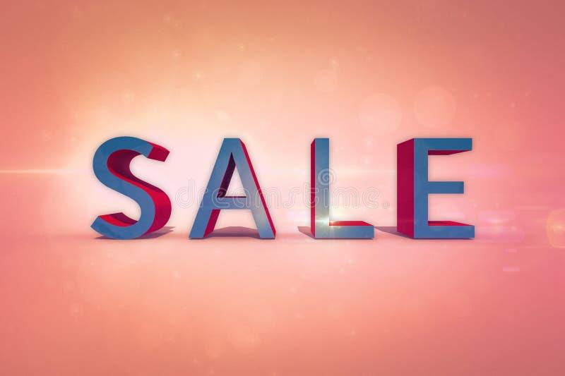 销售-在背景的题字 免版税图库摄影