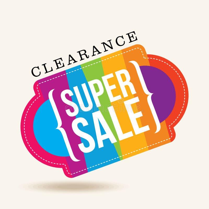 销售购物背景和标签企业促进的 向量例证