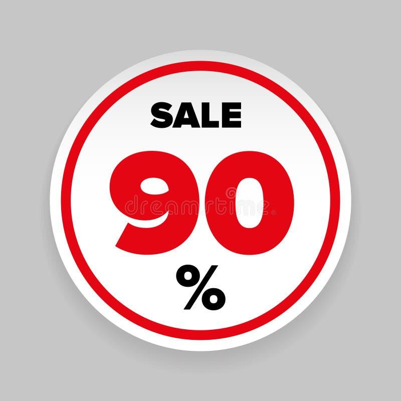 销售贴纸百分之九十 库存例证