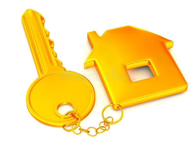 锁上小装饰品 库存例证