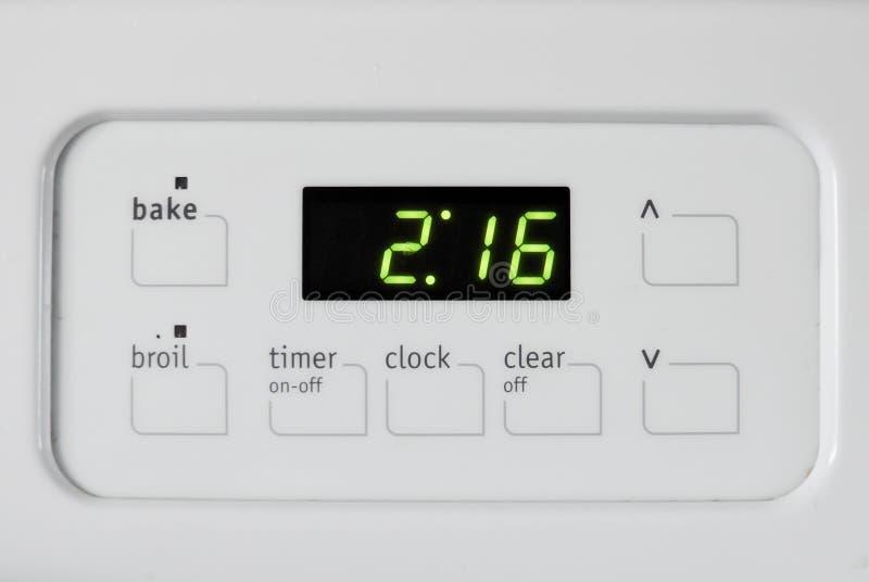 锁上烤箱时间 库存照片