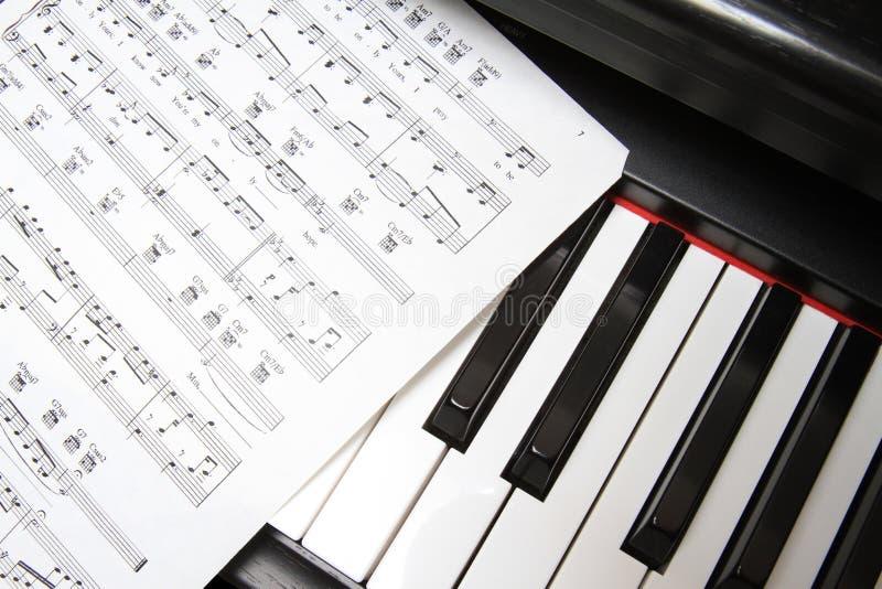 锁上音乐钢琴 免版税图库摄影
