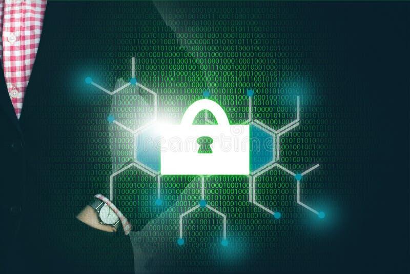 锁代码重要企业信息的安全 免版税库存图片