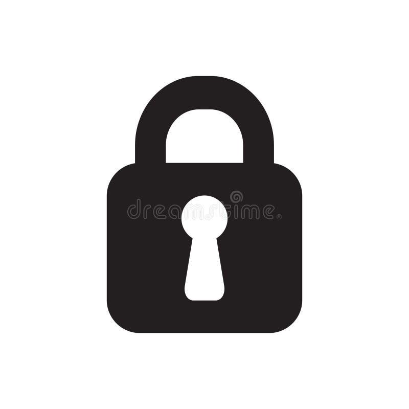 锁传染媒介象 向量例证