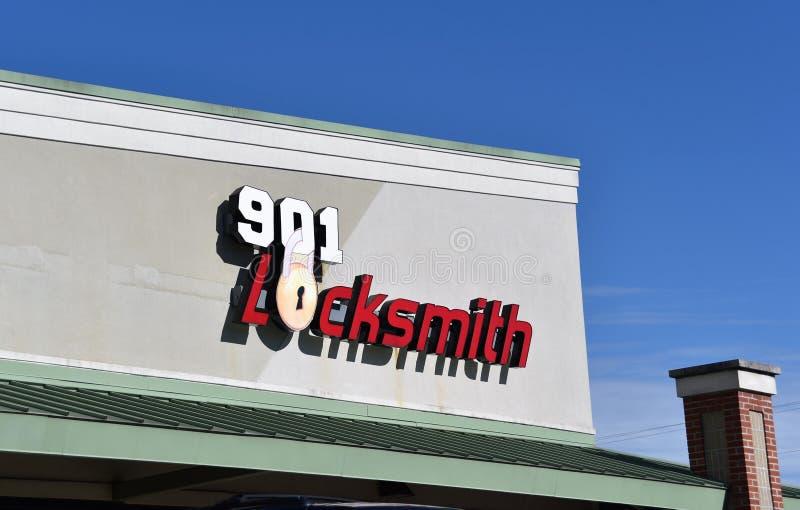 901锁匠,孟菲斯,TN 库存照片