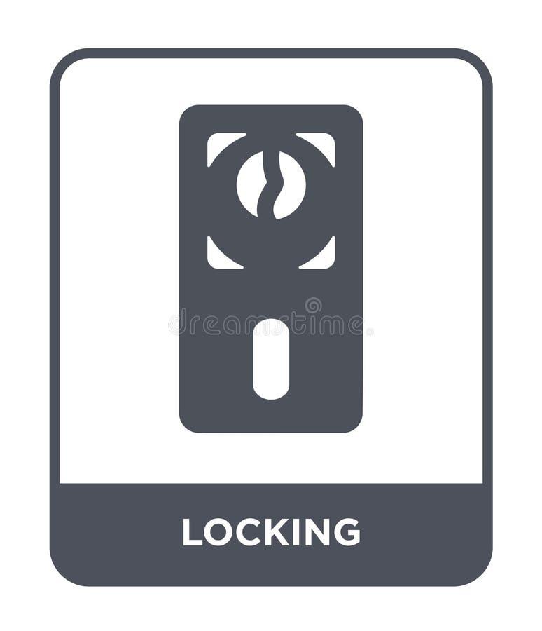 锁在时髦设计样式的象 锁在白色背景隔绝的象 锁传染媒介象简单和现代平的标志 皇族释放例证