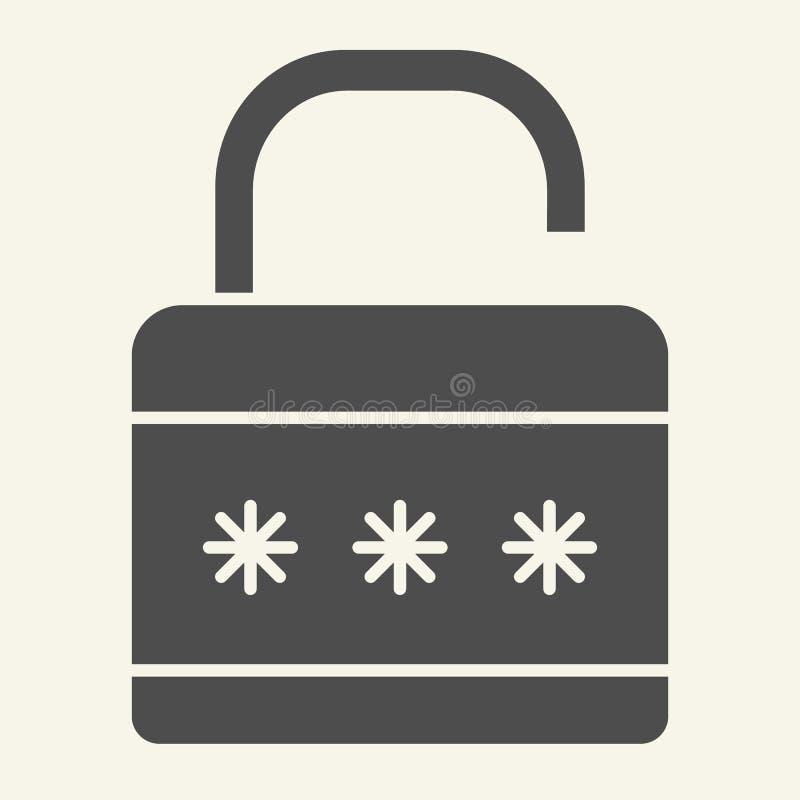 锁坚实象 挂锁在白色隔绝的传染媒介例证 安全纵的沟纹样式设计,设计为网和app 皇族释放例证