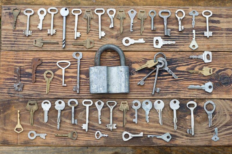 锁定和关键字 免版税图库摄影
