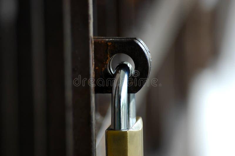 锁定填充 库存照片