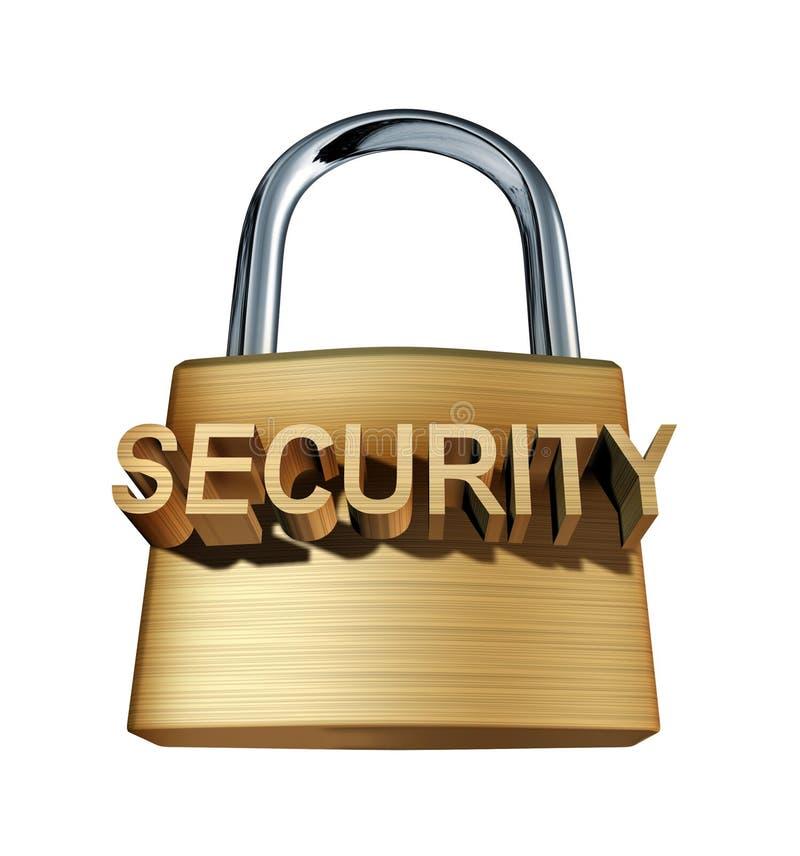 锁定挂锁安全 向量例证
