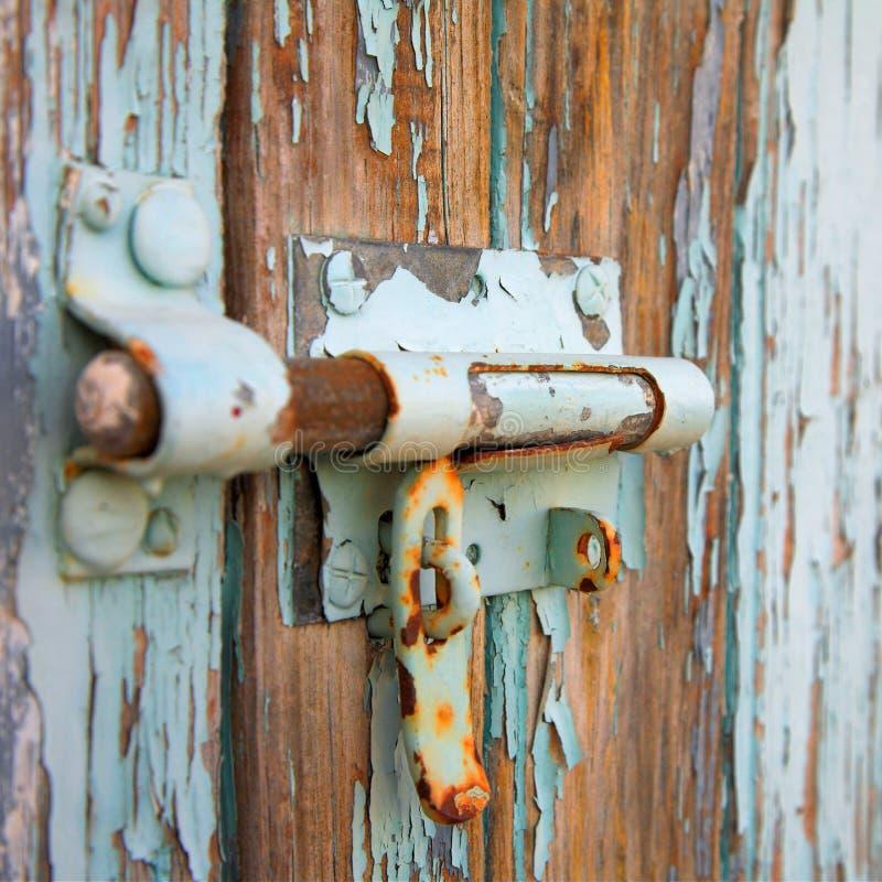 锁定生锈了 库存图片