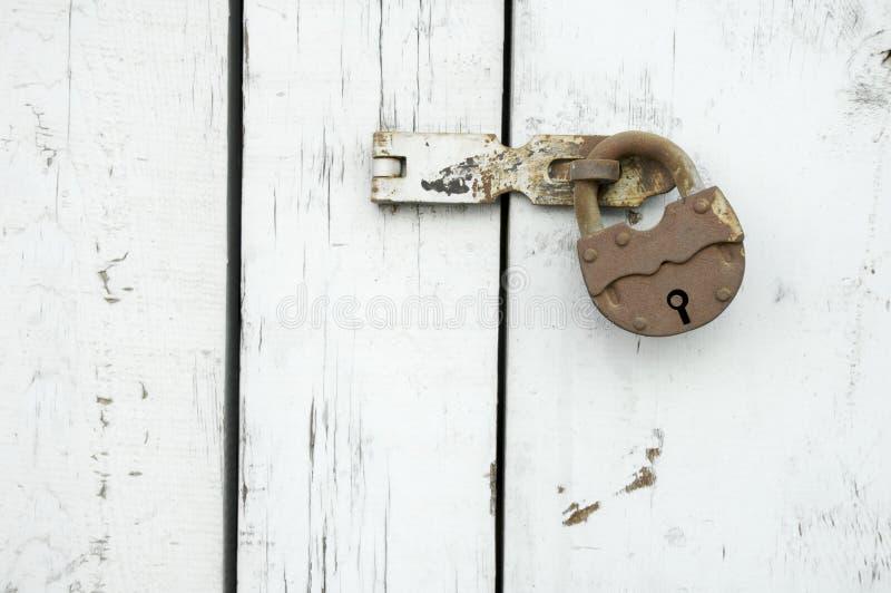 锁定生锈 免版税库存照片