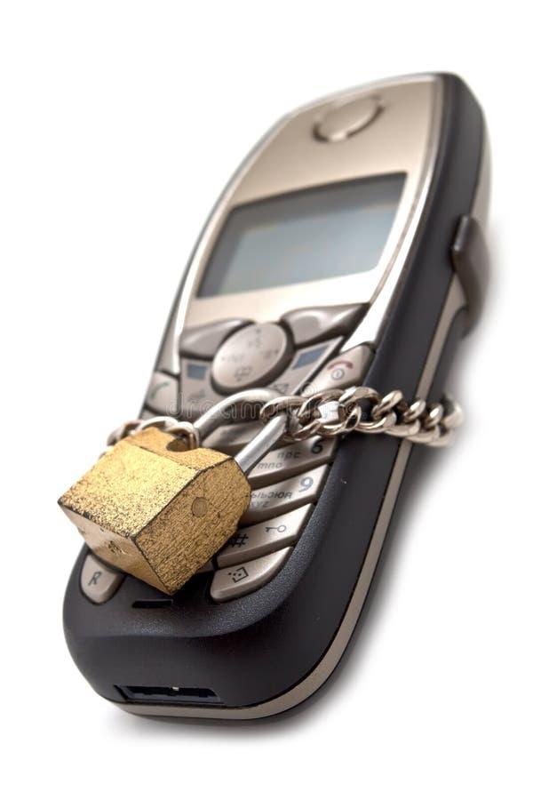 锁定电话 免版税图库摄影