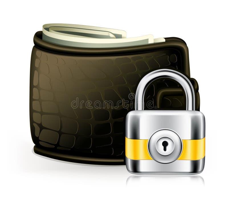 锁定钱包 向量例证