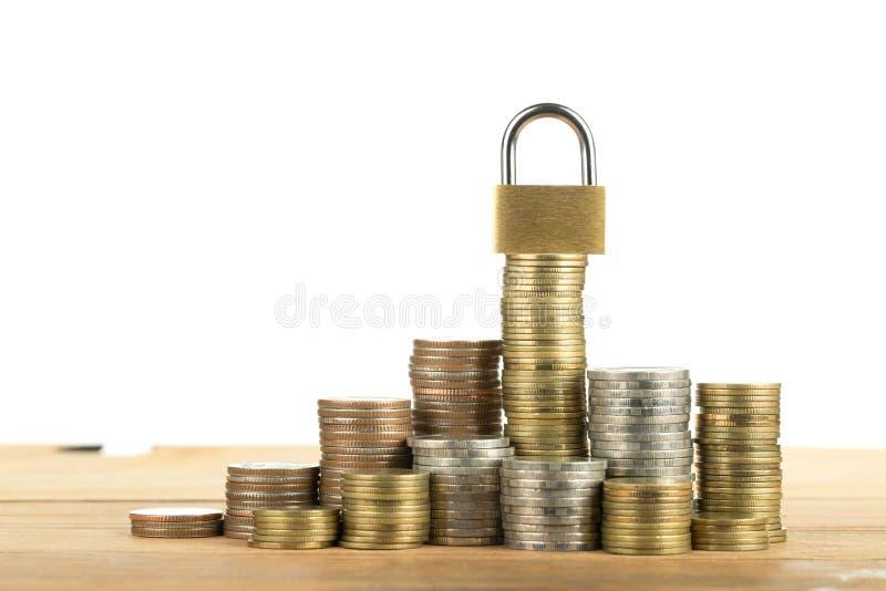 锁并且存您的金钱 库存照片