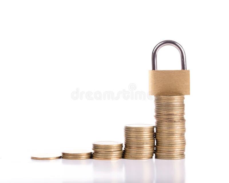 锁并且存您的金钱 免版税图库摄影