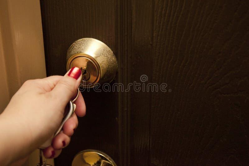 锁或开锁 免版税库存照片