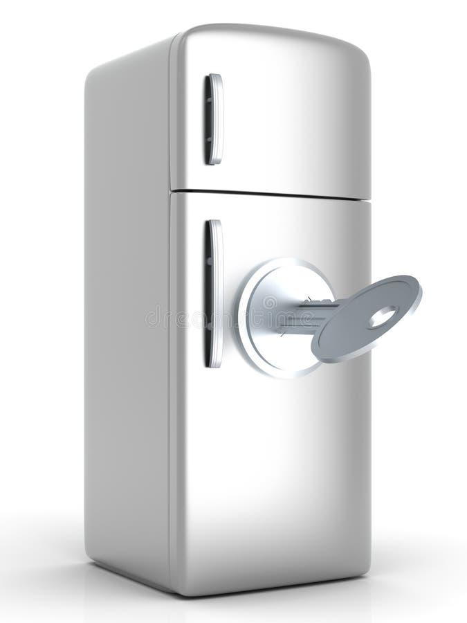 锁着的冰箱 向量例证