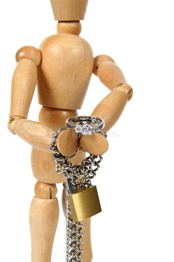 锁着的婚姻  库存照片