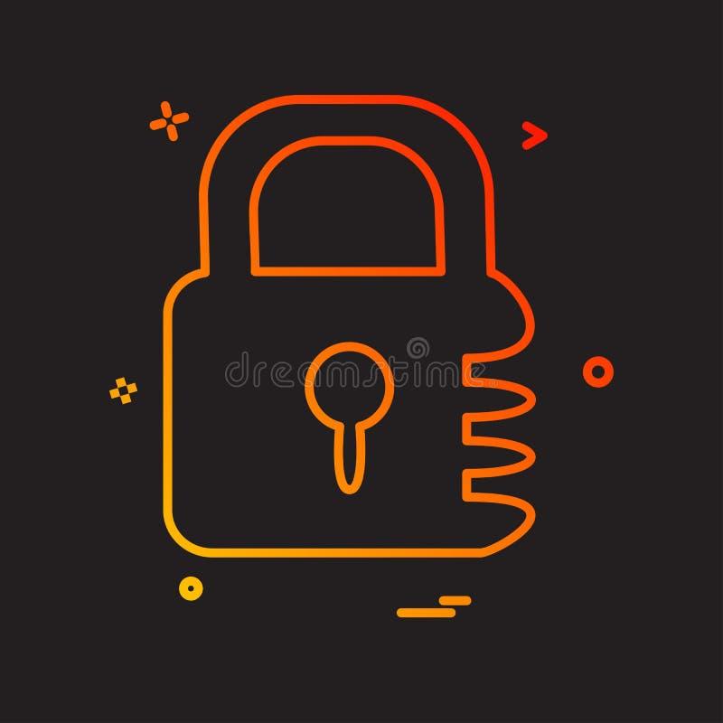 锁着的象设计传染媒介 皇族释放例证