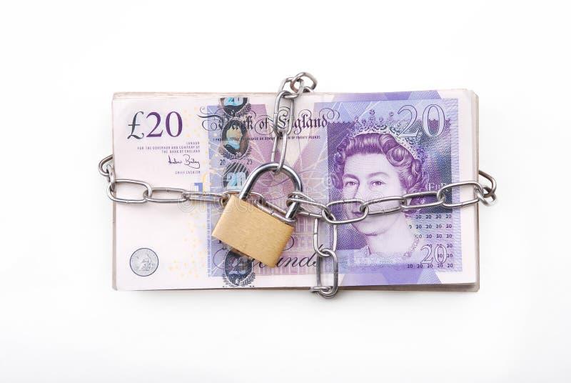 锁着的货币 库存图片