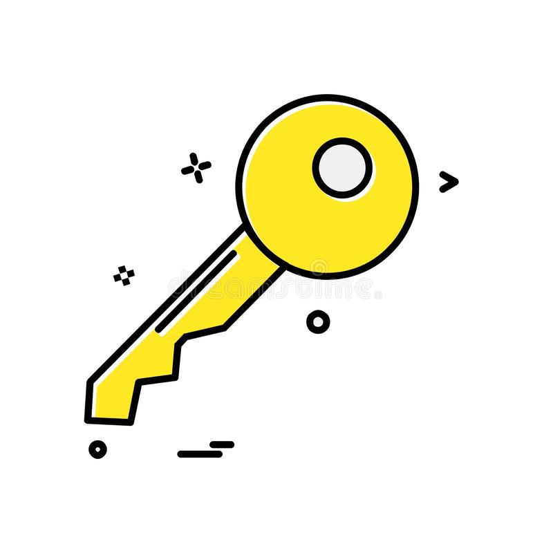 锁象设计传染媒介 库存例证