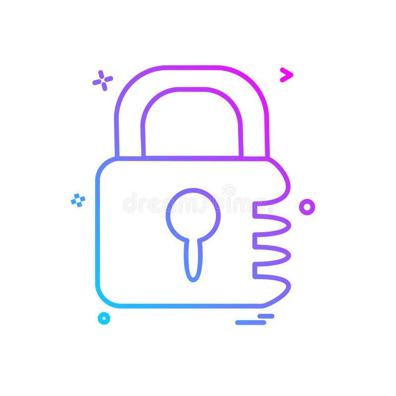 锁象设计传染媒介 向量例证