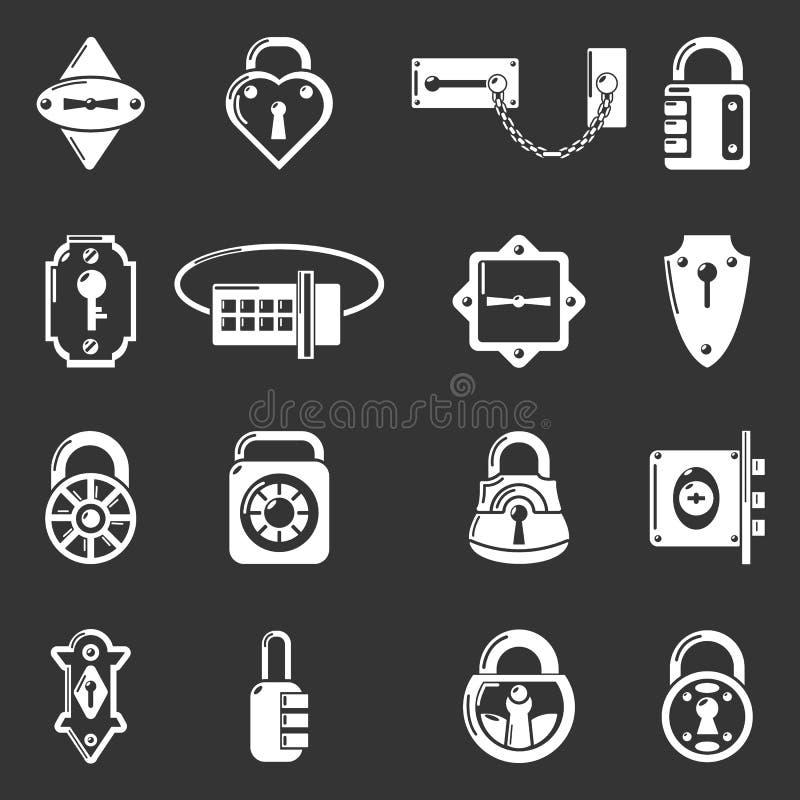 随手锁门标�_锁门类型象被设置的灰色传染媒介