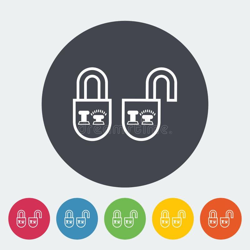 随手锁门标�_download 锁门 向量例证.