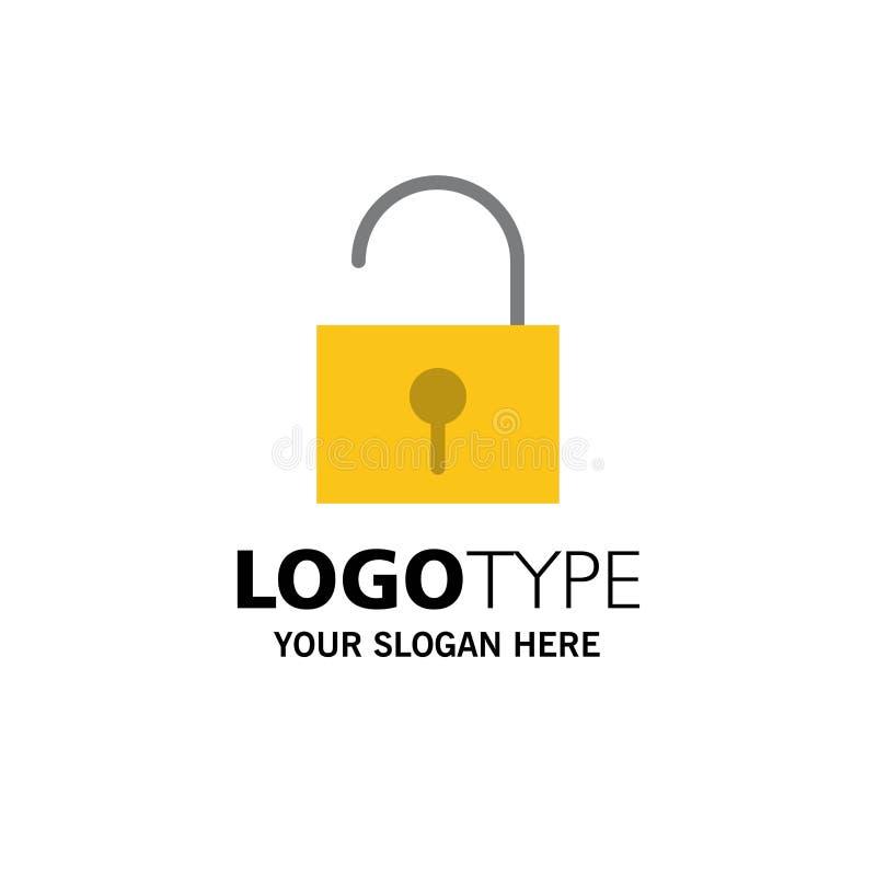 锁,开锁,用户界面企业商标模板 o 皇族释放例证