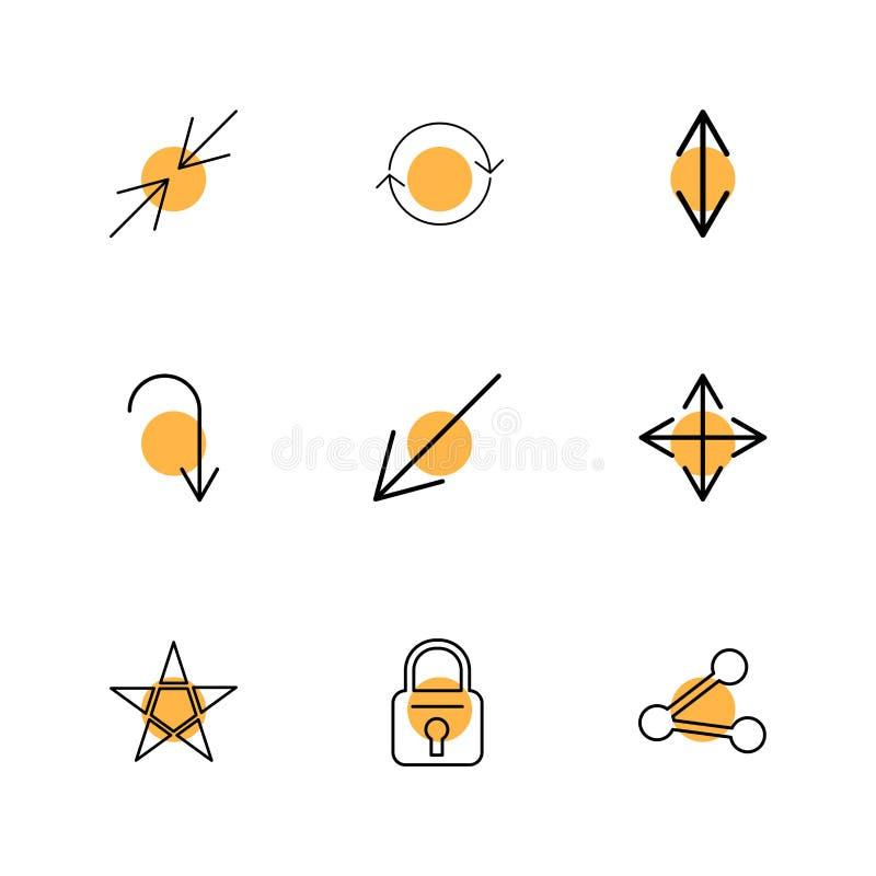 锁,星,份额,箭头,方向,具体化,下载, u 皇族释放例证