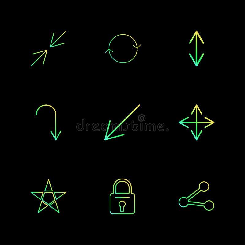 锁,星,份额,箭头,方向,具体化,下载, u 向量例证