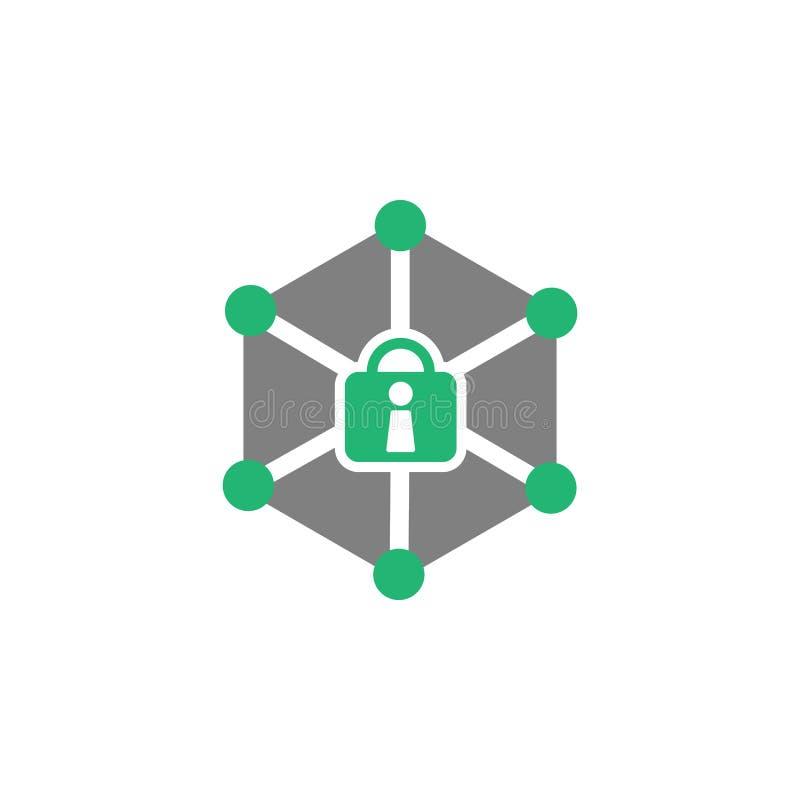 锁,网络象 网络和安全象的元素流动概念和网应用程序的 可以使用详述的锁,网络象 向量例证