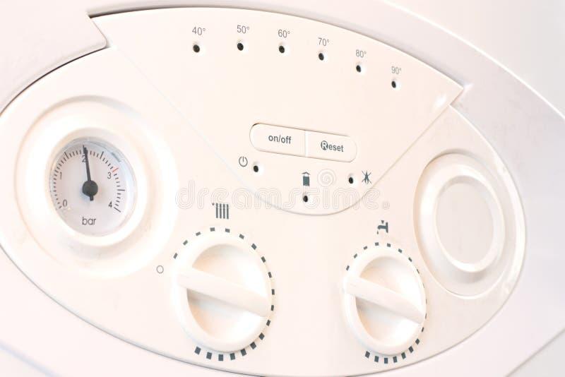 锅炉中央系统暖气面板 免版税库存图片