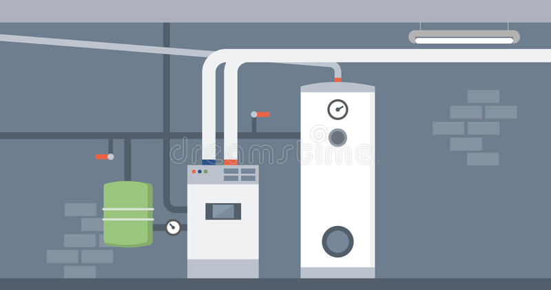 锅炉室 库存例证