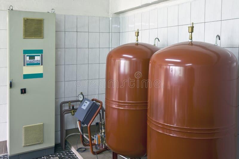 锅炉房内部 免版税图库摄影
