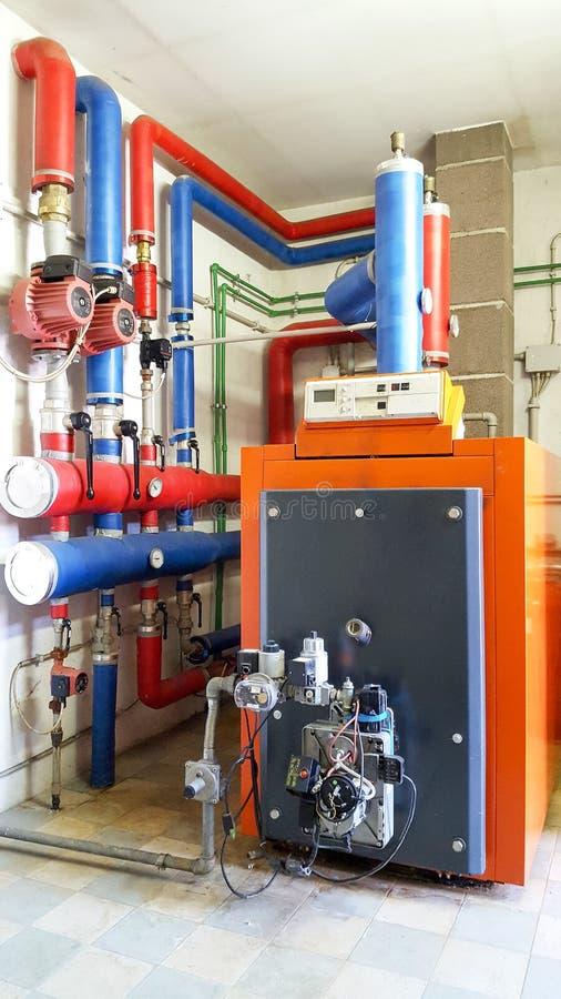 锅炉气体在锅炉室 库存图片