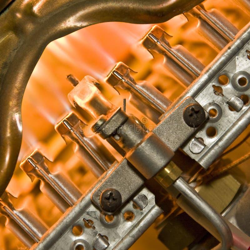 锅炉燃烧器气体 图库摄影