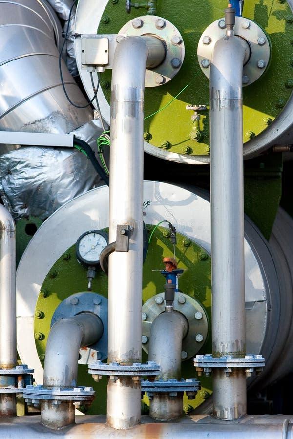锅炉行业管道工程管组 库存照片
