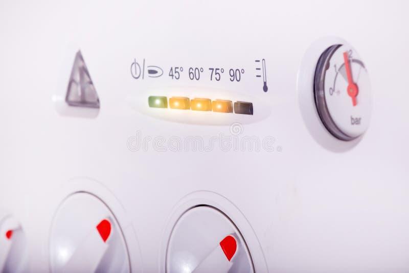 锅炉设备考试气体 免版税库存照片