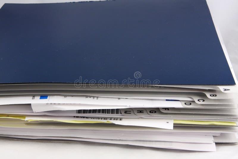 锉刀家庭办公纸张 免版税库存图片