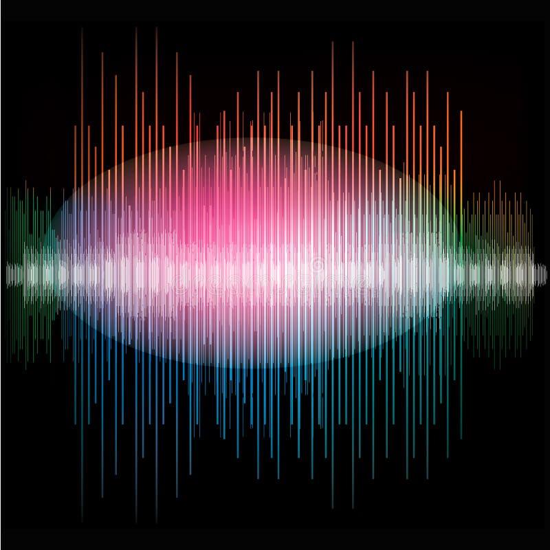锋利的五颜六色的信号波形 向量例证